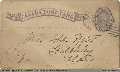 Postcard Sent to Ida Yates