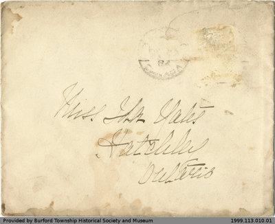 Letter Addressed to Ida Yates