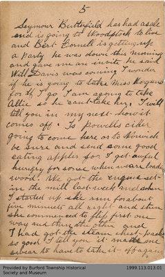 Partial Letter Written by Lieutenant C.F. Yates