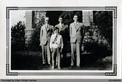 Leslie, Brock, George, and Jack Miller Photo