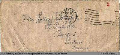 Letter to Lottie Rutherford from Lilly Sibbick