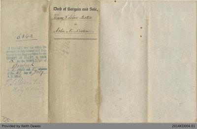 Deed of Land Transfer from Henry and Selene Lester to John N. Lester