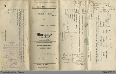 Mortgage Agreement Between Henry A. Lester to William F. Dawes