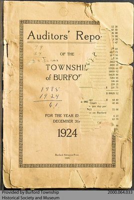 1924 Auditors' Report of Burford Township
