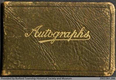 Emilie Robertson's Autograph Book