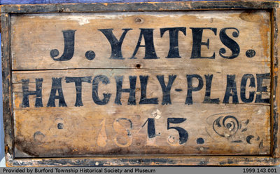 Jarvis Yates' Hatchley Place Sign
