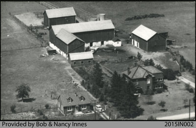 Aerial Photo of the Bonney/Innes Farm