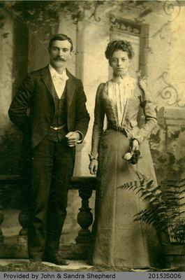Photograph of George Shepherd and Alferetta Schunk