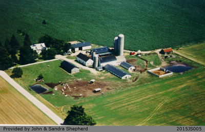 Aerial Photograph of the Shepherd Family Farm