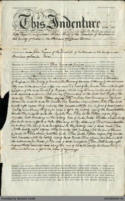 Land Deed Agreement Between Philip Flock and John Vivyan
