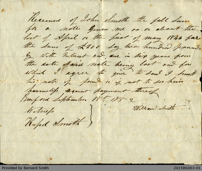 Loan Agreement Between William Smith and John Smith