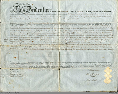 Land Deed Agreement Between William and Charity Smith and John Smith