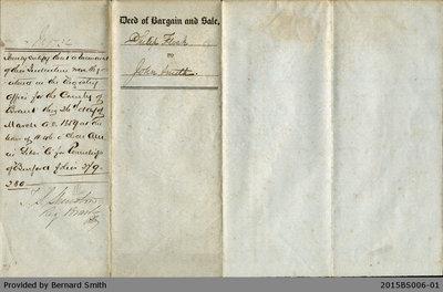 Land Deed Agreement Between Philip Flock and John Smith