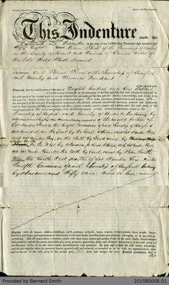 Land Deed Agreement Between Eleanor Flock and Thomas Perrin