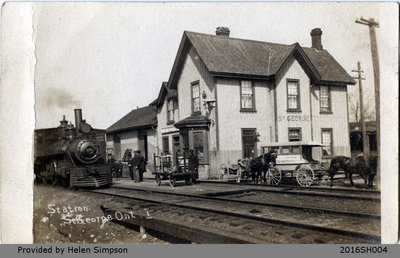 Railway Station Postcard