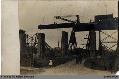 Grand Trunk Railway Bridge Reconstruction Postcard