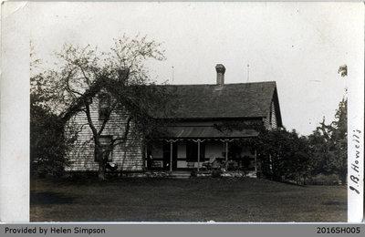 J.B. Howell's House Postcard
