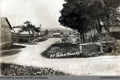 Main Street in Glen Morris Postcard