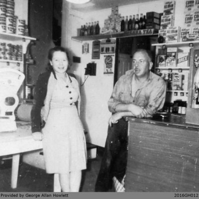 Photograph of the Cronins at the Grocery Store in Glen Morris