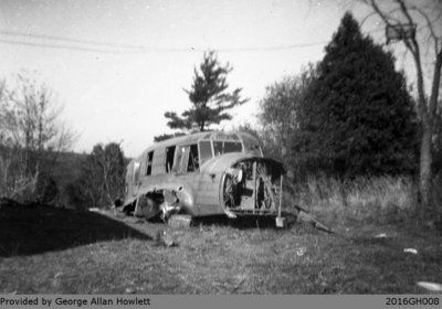 Photograph of an Old Anson Plane in Glen Morris
