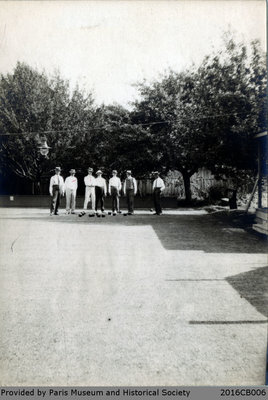 Photograph of the Lawn Bowlers at the Paris Lawn Bowling Club