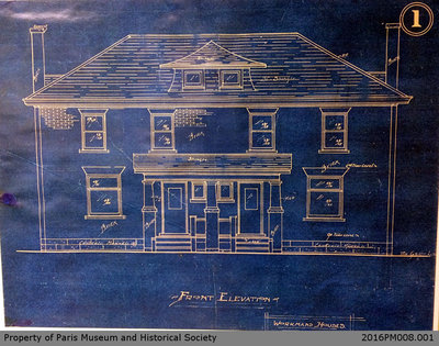 Workman's House Blueprints 28 and 30 Willow Street