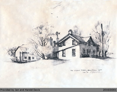 Drawing of the McLean Farm in Newport