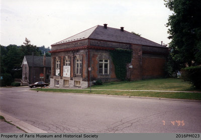 Photograph of the Back of the Paris Public Library Before Renovations