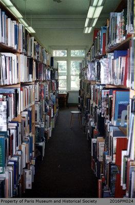 Photograph of Bookshelves at Paris Public Library