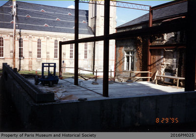 Photograph of the Paris Public Library During Renovations