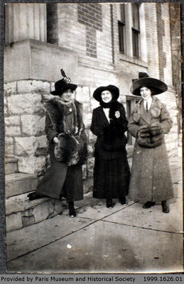 Photograph of Women in Front of the Paris Library