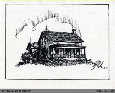 Postcard of the Harley Homestead