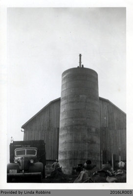 Photograph of the Silo at the Harley Homestead