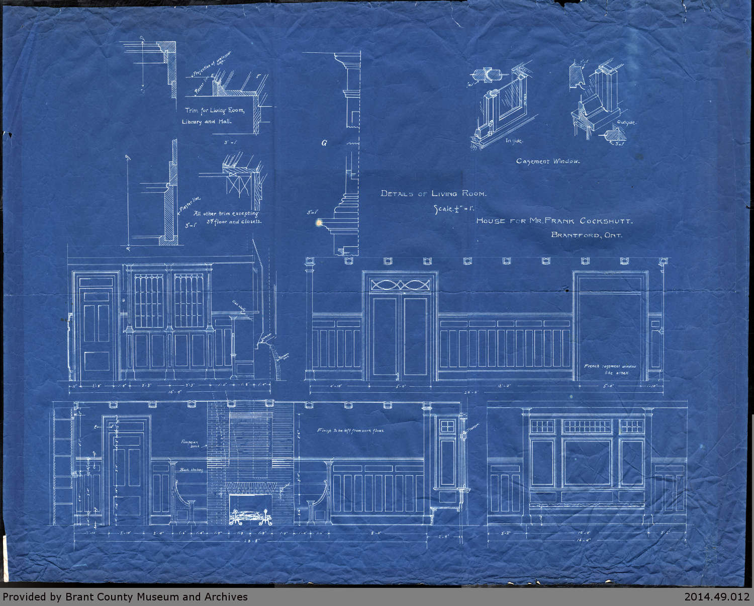 Cockshutt Summer House Blueprints