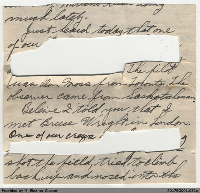 "Letter, John ""Jack"" Chapple Tate to Margaret Tate, 8 September 1941"
