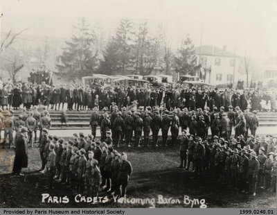Paris Cadets Welcoming Baron Byng, 9 April 1922