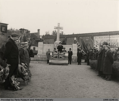 Remembrance Day Ceremony, c. 1935
