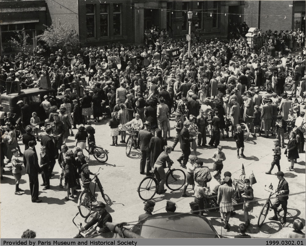 Ceremony marking the end of World War 2, May, 1945