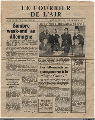 Le Courrier de L'Air, 3 February 1944