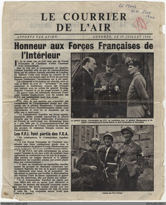 Le Courrier de L'Air, 20 July 1944