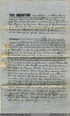 Deed of Land between Joseph Thomas, Deborah Thomas and William Duncan