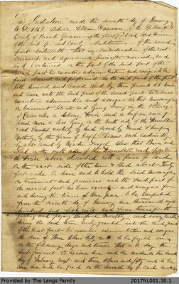 Lease Agreement Between William Duncan and Alfred Henson