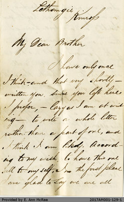 Letter from William Pate to James Pate, August 20, 1882