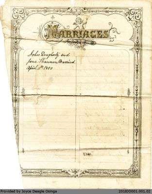 Dougherty Family Marriage Record