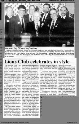 Lions Club celebrates in style