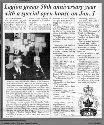 Legion greets 50th anniversary year with a special open house on Jan. 1