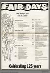 1985 Burford Fair List of Events