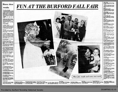 Fun at the Burford Fall Fair