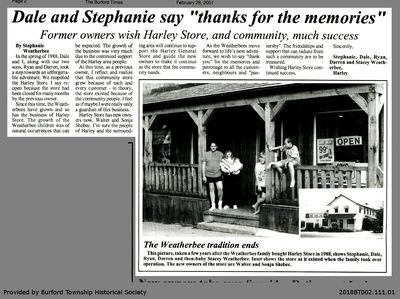 """Dale and Stephanie say """"thanks for the memories"""""""