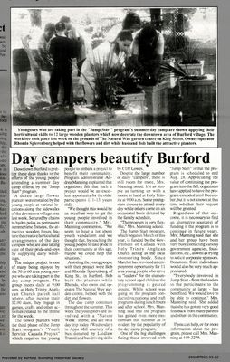 Day campers beautify Burford